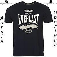 Футболка Everlast мужская темносиняя для тренировок | Футболка Everlast чоловіча темносиня для тренувань