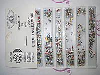 Стразы для ногтей Global цветные 720 шт
