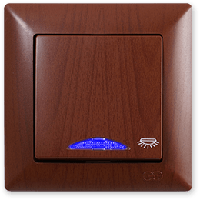 Visage Орех Кнопка контроля освещения с подсветкой