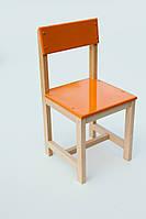 Стульчик детский деревянный оранжевый (28 см.)
