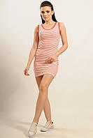 Трикотажное платье сарафан Майами прилегающего силуэта в полоску 42-52 размеры