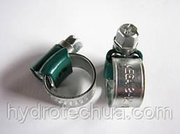 Хомут 8-12 W1 Industry червячный усиленный оцинкованный HYDRO TECH