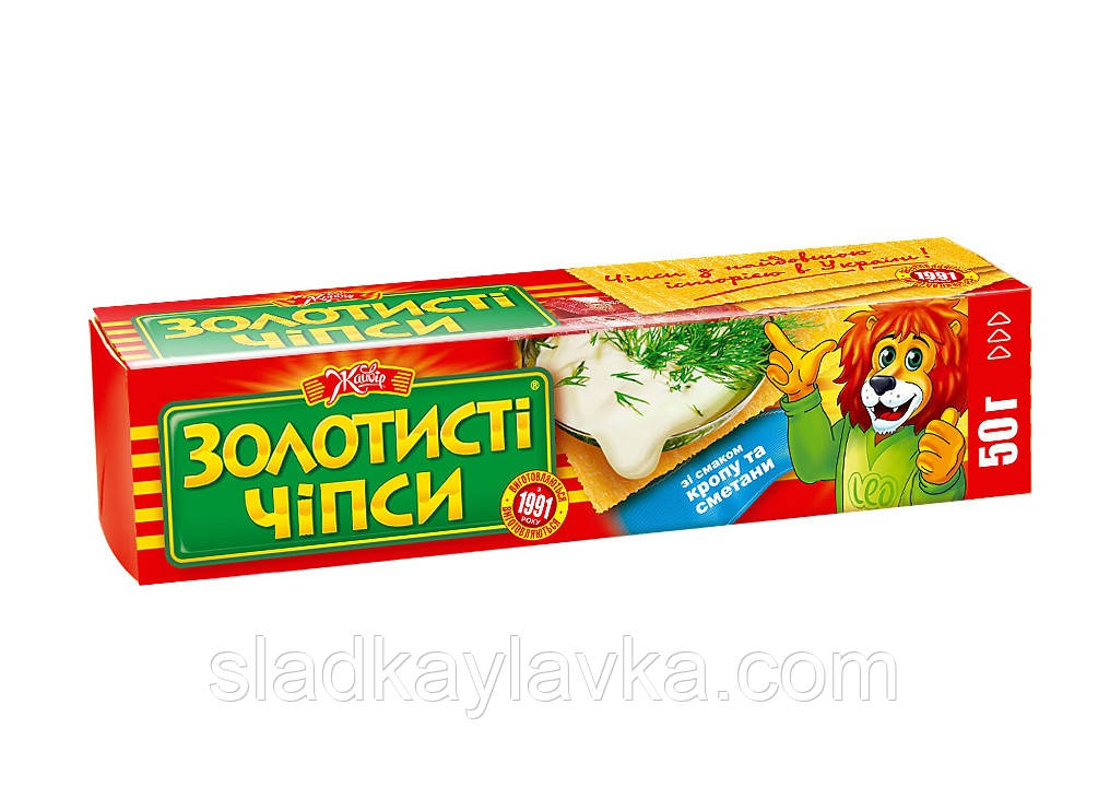 """Чипсы """"Золотистые"""" 50 г (66 шт) ТМ """"Жайвор"""""""
