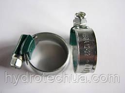 Хомут 12-22 W1 Industry червячный усиленный оцинкованный HYDRO TECH