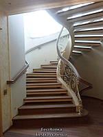 Кованые перила для лестниц сложной винтовой формы