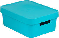 Синяя коробка с крышкой на 11 л INFINITY Curver 229247