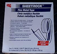 Лента металлическая Sheetrock flex metal tape, 30.4м x 5.2см