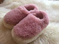 Тапочки из натуральной овчины розовые