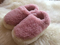 Тапочки из натуральной овчины розовые, фото 1