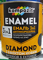 Эмаль антикоррозионная 3 в 1 DIAMOND Kompozit, 2.5л, фото 1