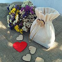 Подарочный мешочек из ткани (золотистая завязка), фото 1