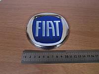 """Эмблема """"Fiat Doblo, Dukato, Fiorino, Scudo"""" синяя (D=120)"""