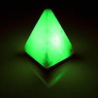 Соляна лампа BactoSfera SALTKEY PYRAMID Green 4,5 - 5 кг
