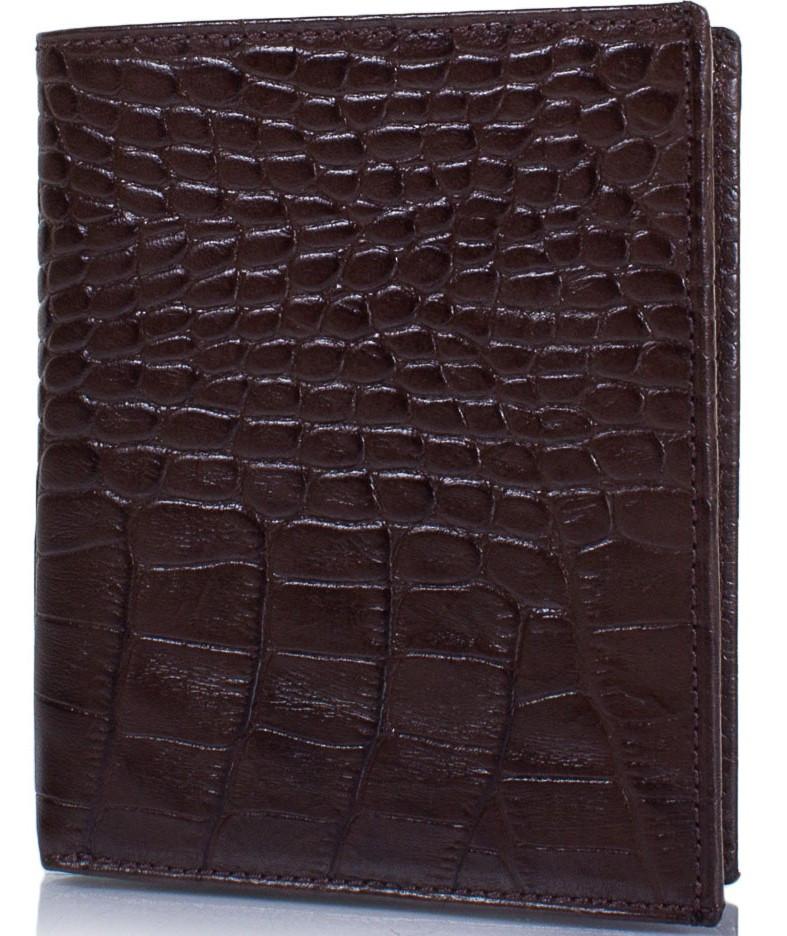Ділове чоловіче шкіряне портмоне GRASS SHI409-30, коричневий