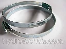Хомут 80-100 W1 Industry червячный усиленный оцинкованный HYDRO TECH