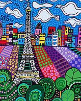 Раскраска по номерам без коробки Идейка Облака над Парижем Худ Хезер Галлер (KHO2165) 40 х 50 см