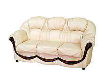 """Трехместный раскладной кожаный диван """"Мальта"""" (200см)"""
