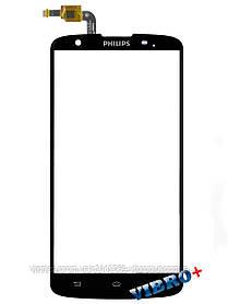 Тачскрин (сенсор) Philips Xenium i928, black (черный)