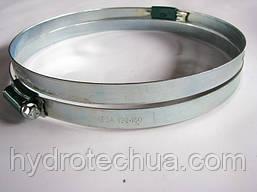 Хомут 130-160 W1 Industry червячный усиленный оцинкованный HYDRO TECH