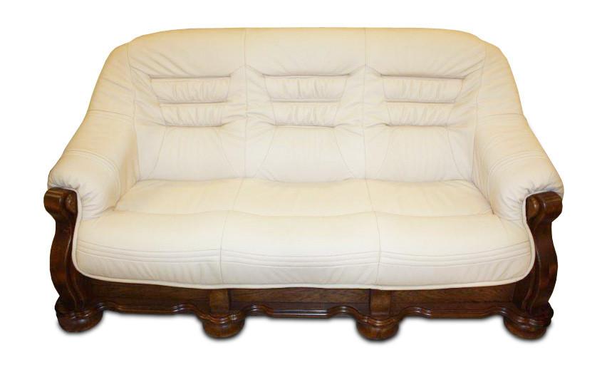 """Классический раскладной диван """"CEZAR"""" в коже (212см)"""