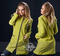 Женское пальто №035-124 большие размеры