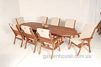 Раскладной садовый стол Matilda из дерева мербау 220/288х105 см
