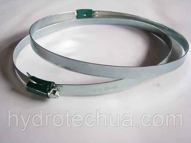 Хомут 170-200 W1 Industry червячный усиленный оцинкованный HYDRO TECH