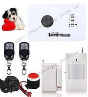 Комплект беспроводной сигнализации Alarm GSM G10 с иммунитетом на животных до 10кг