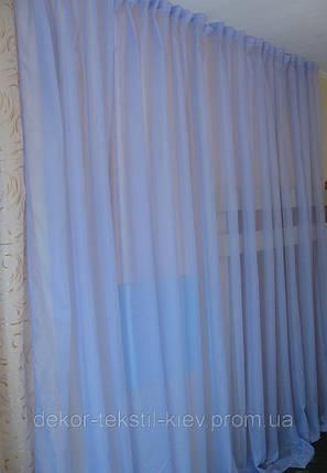 Готовая гардина 6 метров, вуаль сиреневая, фото 2