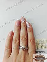 Серебряное кольцо с золотом СПСХ 3, фото 1