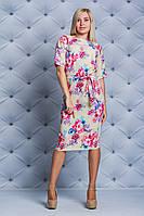 Женское платье за колено принт