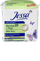 Гигиенические прокладки ультра-впитывающие Jessa Ultra-Binden Normal+Flügel Aloe Vera, 16 шт