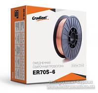 Проволока сварочная 0,8 мм (5 кг) омедненная ER70S-6 катушка D200-5 (Gradient)