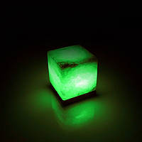 Соляная лампа BactoSfera SALTKEY CUBE Green 3,5 - 4 кг