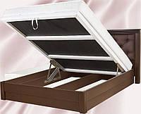 Кровать МАРГАРИТА с подъемным механизмом, с мягким изголовьем, деревянная кровать из сосны, Da-Kas (Да-Кас)