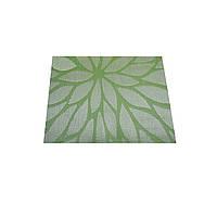 Коврик сервировочный под столовые приборы, 33х46 см, светло-зеленый с узором, ТМ МД