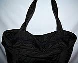 Женская черная стеганная сумка со вставкой со змейкой 22*30, фото 3