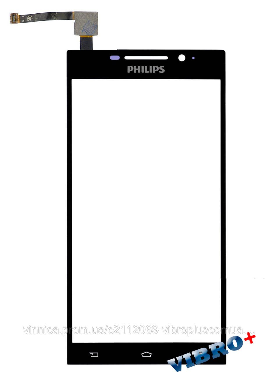 Тачскрин (сенсор) Philips I999, black (черный)