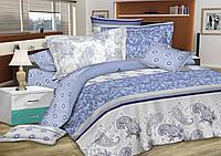 Двуспальный комплект постельного белья евро 200*220 сатин (7239) TM KRISPOL Украина