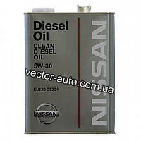 Масло моторное NISSAN Clean Diesel Oil DL-1 5W-30, 4 L