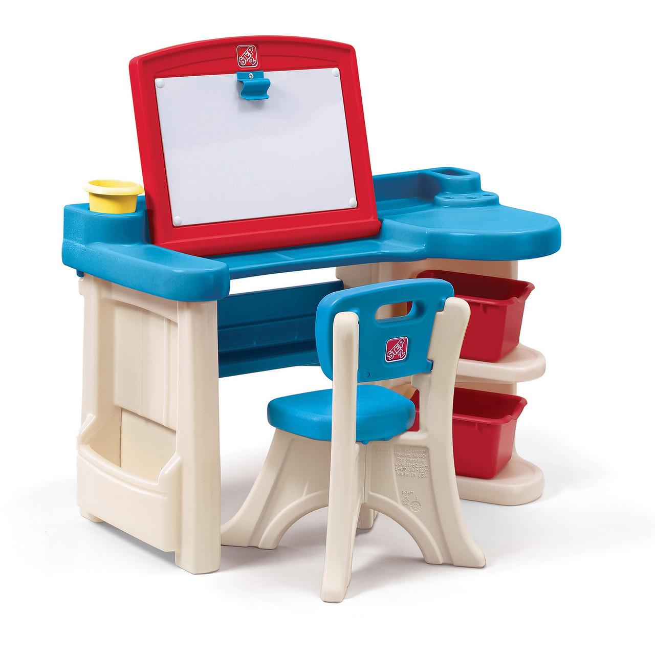 "Детский стол для творчества ""ART DESK REFRESH"" со стульчиком, 92х97х41см"