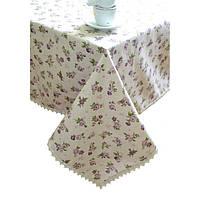 Скатерть с кружевом на стол 220х140 Прованс Lilac Rose