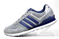 Мужские Кроссовки Adidas Neo, кожа (Gray)