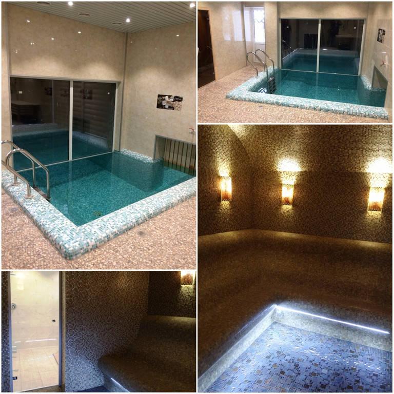 Плавательный внутренний бетонный бассейн