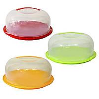 Тортовница круглая, прозрачная 28,4 x 11,5 см