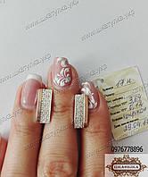 Серьги из серебра и золота №17н