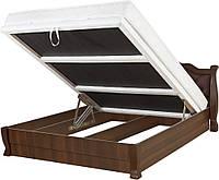 Кровать ТАТЬЯНА ЭЛЕГАНТ ЛЮКС с подъемным мех, с мягким изголовьем, деревянная кровать из сосны Da-Kas (Да-Кас)