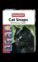Beaphar Cat Snaps 75таблеток-вітамінізовані ласощі з креветками, таурином і біотином (12550)