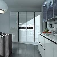 Кухня RODA ЛЕМАН: фасады МДФ покрыты зеркально-глянцевым акрилом