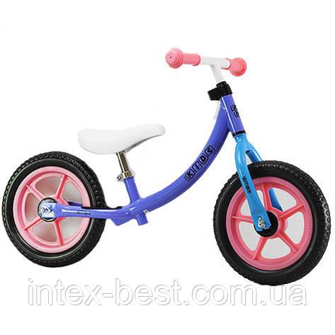 """Беговел Profi Kids 12"""" M 3437-6 Фиолетовый/Розовый, фото 2"""